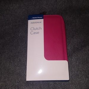 Pink cell phone clutch