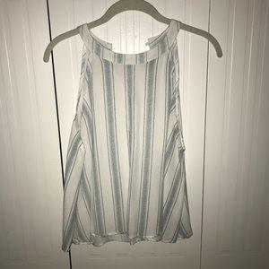Paper crane tank top blouse