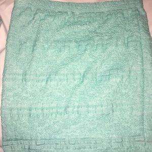 Mint lace pencil skirt