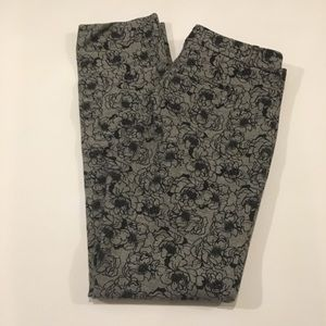 Banana Republic Rose Print Dress Pants