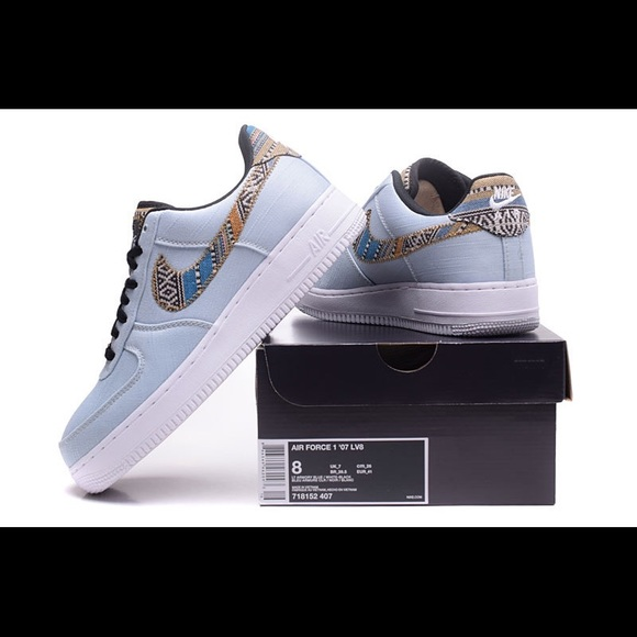 NIKE AIR FORCE 1 '07 LV8 AFRO PUNK DENIM PACK NWT