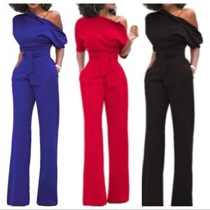 "Pants -  COMING SOON  ""Kandy"" Belted Jumpsuit -- S* M*L"