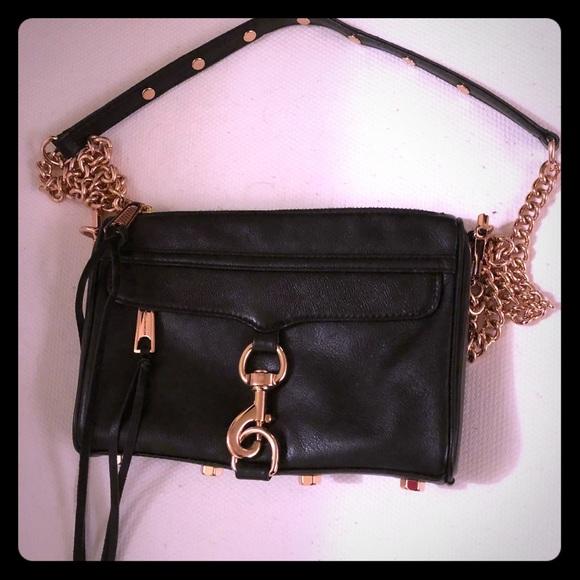 Rebecca Minkoff Mini Mac Black/Rose Gold Bag