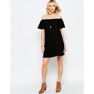 ASOS Black Off Shoulder Dress
