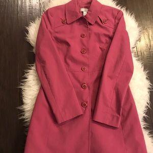 Loft pink trench coat