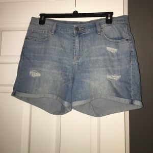 Old Navy Curvy blue jean shorts