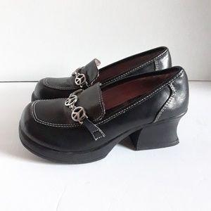 Other - Black Loafer Platforms Girl  Size 1