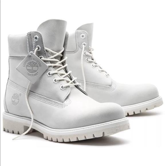 Premium Ghost White Timberland Boots