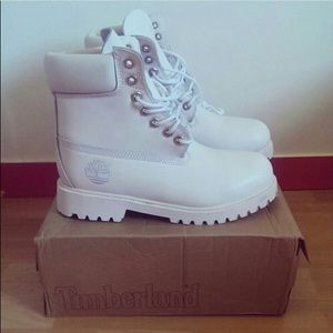 Timberland Shoes - Premium Ghost White Timberland Boots 6ee3d2b583ca