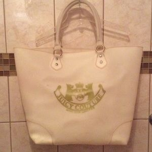 Juicy Couture white rubber tote