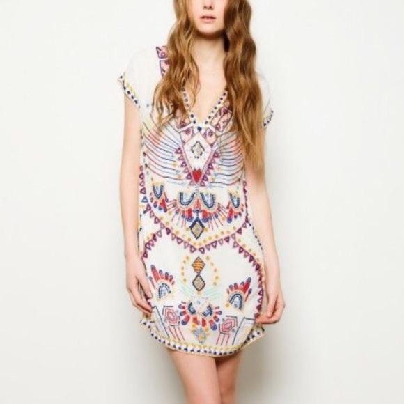 ANTIK BATIK Mini Dress Intricate Gauze Party Tunic ff82471fb