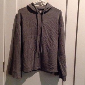 Zara exaggerated sleeve hoodie