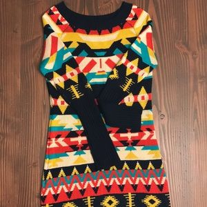 Jessica Simpson geometric sweater dress
