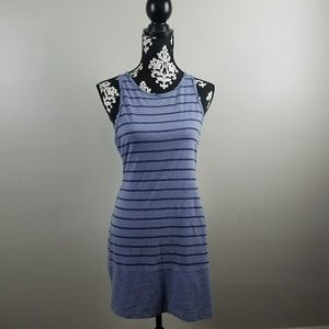 Victoria's Secret blue striped sleeveless dress