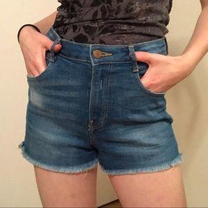 Zara TRF Denim High Waisted Shorts