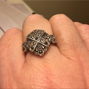 Sterling and marcasite ring size 8