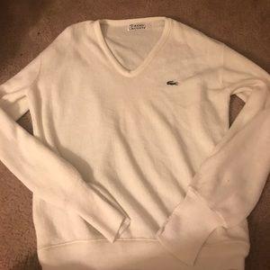 Lacoste Antique White Sweater