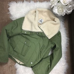 UNIF [RARE] Army Green Shepalined Jacket