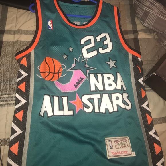 sale retailer 27e5f cbd98 Hardwood Classics michael jordan all star jersey