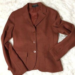 Theory and Bergdorf Goodman Brown Blazer Jacket