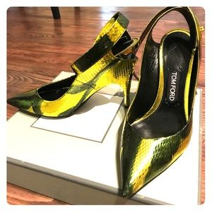 TOM FORD SNAKESKINS HEELS WITH ANKLE STRAP