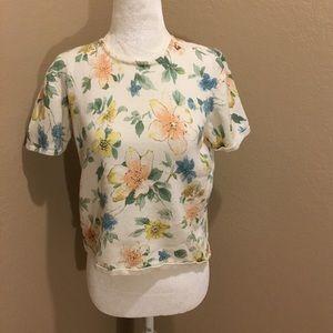 🔥30%OFF🔥Alfred Dunner flower short sleeve PL