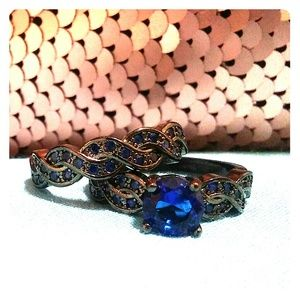 Jewelry - Midnight blue wedding set