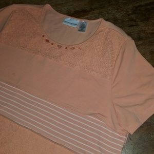 Alfred Dunner Top L blush
