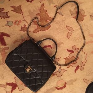 Chanel Flap bag with gold bar