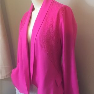 Skies Are Blue Hot Pink Blazer Stitchfix