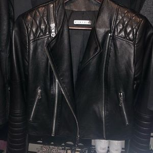Alice and Olivia Gamma Leather Jacket