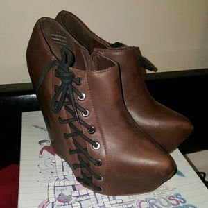 Jeffrey Campbell  Zup, brown,  8