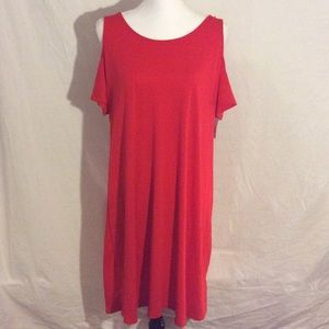 Faded Glory Cold Shoulder Dress, Size 12-14