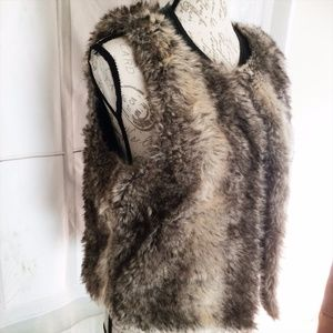 Final Sale Mossimo Medium Women's Brown Fur Vest