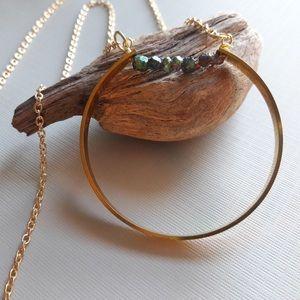 Jewelry - Kyantine small stone geometric necklace
