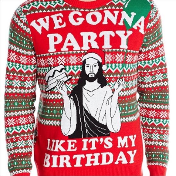 096ccb30 Sweaters | Nwt Mens Ugly Christmas Sweater Jesus New | Poshmark
