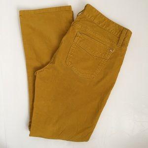 Gap mustard 32 ankle mustard corduroy pants