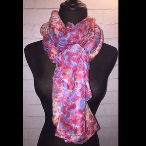 EXPRESS Pink Floral Abstract Scarf