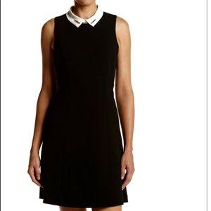 Ivanka Trump Black dress with contrast collar