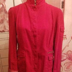 OILILY red 100% cotton blazer military Jacket