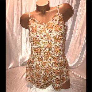 VS Dream angels lingerie Romper Floral Lace Large
