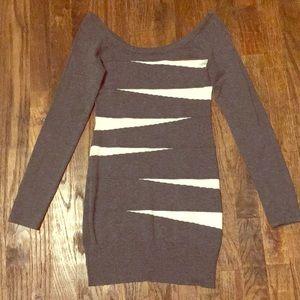 Grey & White Sweater Dress