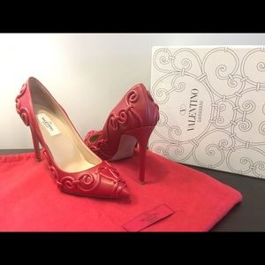 Authentic Leather Valentino Couture Heels
