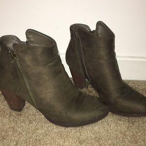 Dark Green Booties