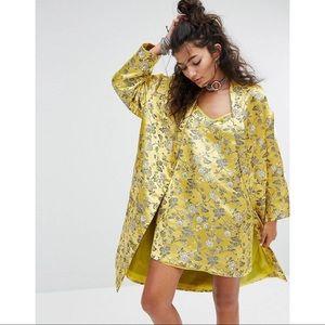 ASOS Brocade Silk Floral Kimono Dress Set