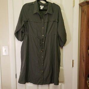 Motherhood Maternity Army Green Dress XL