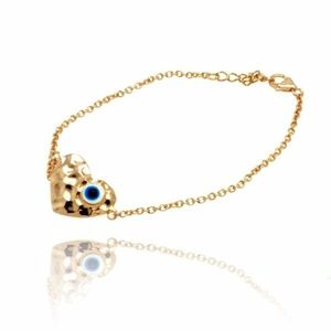 Jewelry - 14k Rose Gold Plated Evil Eye Heart Bracelet