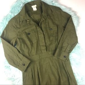 J. Crew Mini Dress Army Green