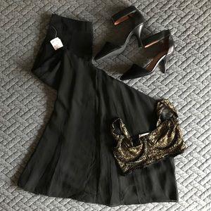 Sheer Long Black Skirt Size XS