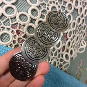 Etch Circles Swirl Metal Hair Clip